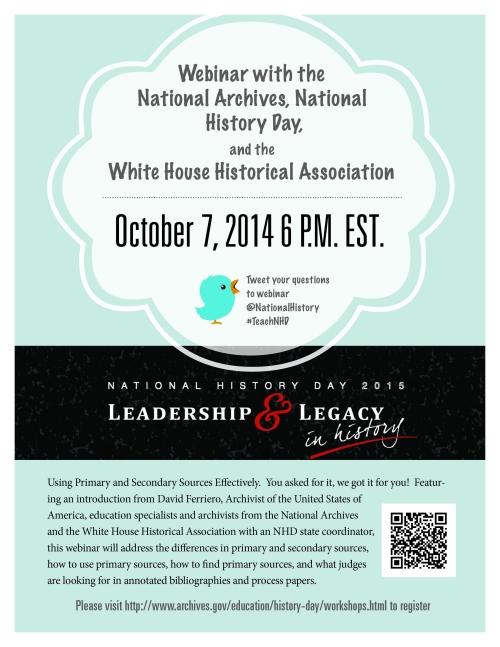 Flyer - October 7, 2014 - NARA